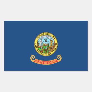 idaho state flag united america republic symbol rectangular sticker