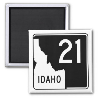 Idaho State Highway 21 2 Inch Square Magnet