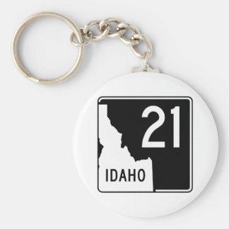 Idaho State Highway 21 Keychain
