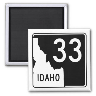Idaho State Highway 33 2 Inch Square Magnet