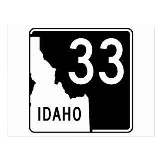 Idaho State Highway 33 Postcard