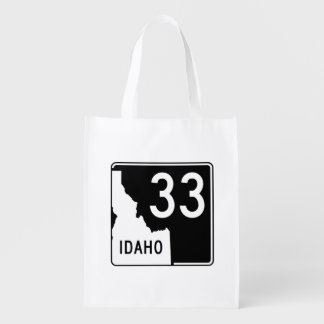 Idaho State Highway 33 Reusable Grocery Bag