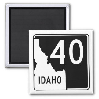 Idaho State Highway 40 2 Inch Square Magnet
