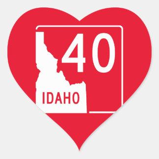 Idaho State Highway 40 Heart Sticker