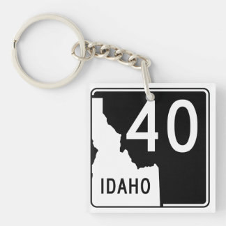 Idaho State Highway 40 Keychain