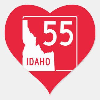 Idaho State Highway 55 Heart Sticker