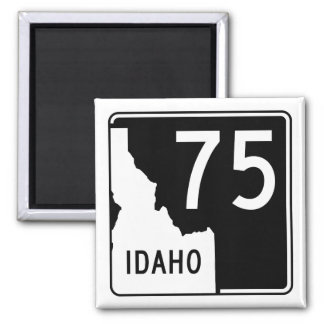 Idaho State Highway 75 2 Inch Square Magnet