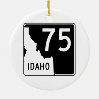Idaho State Highway 75 Ceramic Ornament
