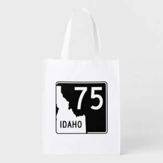 Idaho State Highway 75 Grocery Bag
