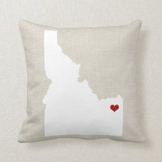 Idaho State Pillow Faux Linen Personalized