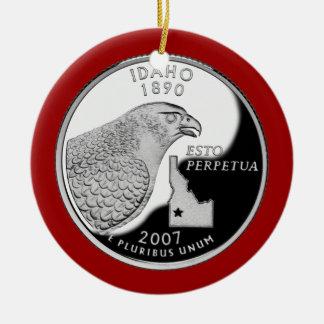 Idaho State Quarter Ceramic Ornament