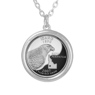 Idaho State Quarter Silver Plated Necklace