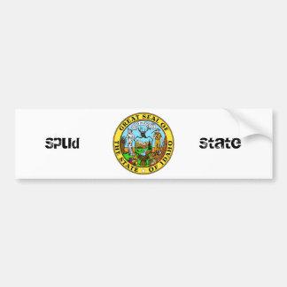 Idaho State Seal and Motto Bumper Sticker
