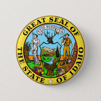 Idaho State Seal and Motto Button