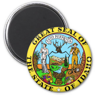 Idaho State Seal and Motto Magnet