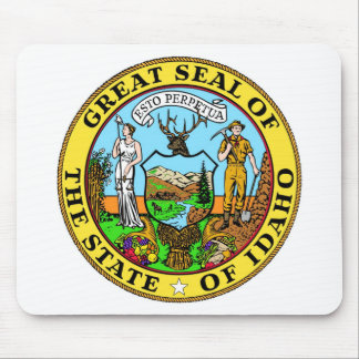 Idaho State Seal and Motto Mouse Pad
