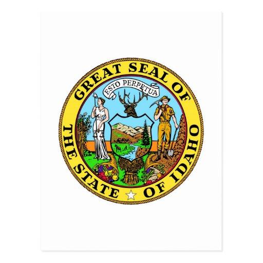 Idaho State Seal and Motto Postcard