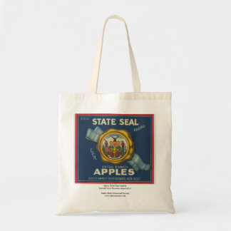 Idaho State Seal Apples Tote Bag