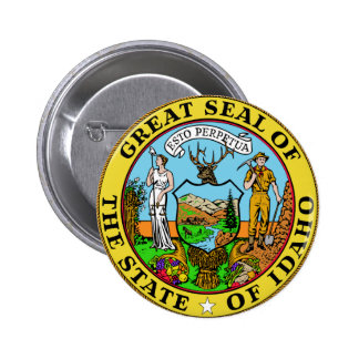 Idaho State Seal Button