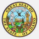 Idaho State Seal Classic Round Sticker