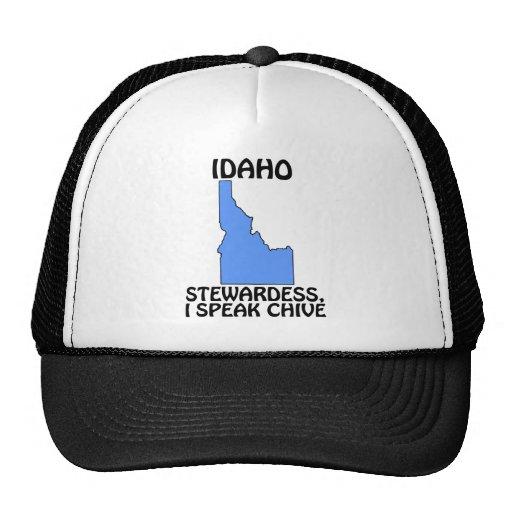 Idaho - Stewardess, I Speak Chive Trucker Hat