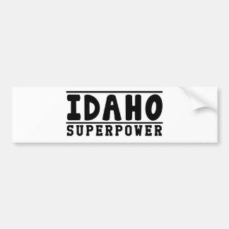 Idaho Superpower Designs Car Bumper Sticker