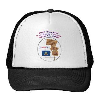 Idaho Tax Day Tea Party Protest Baseball Cap Mesh Hats