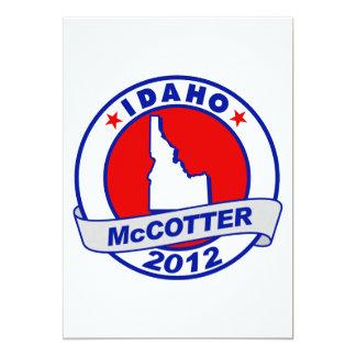 Idaho Thad McCotter 5x7 Paper Invitation Card