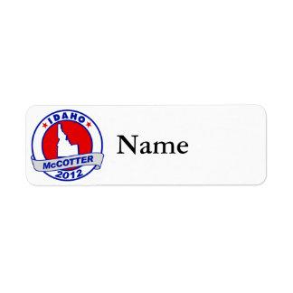 Idaho Thad McCotter Label