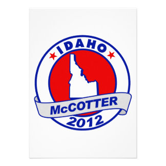 Idaho Thad McCotter Personalized Invitations