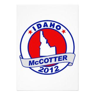 Idaho Thad McCotter Personalized Invitations