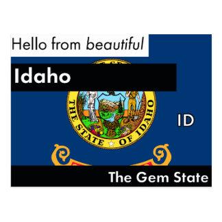 Idaho The Gem State Postcard