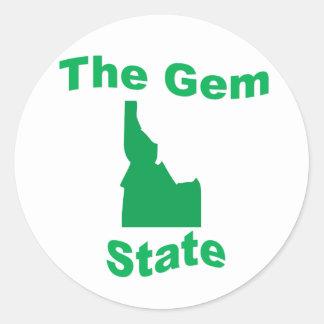 Idaho: The Gem State Round Sticker