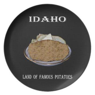 "Idaho ""tierra de patatas famosas"". platos"