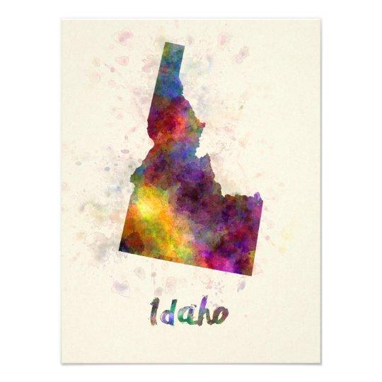 Idaho U.S. state in watercolor Photo Print