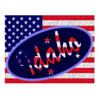 Idaho US flag postcard