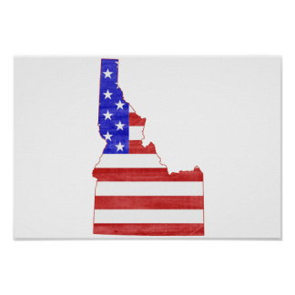 Idaho USA silhouette state map Poster