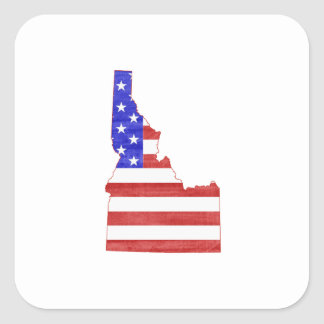 Idaho USA silhouette state map Square Sticker