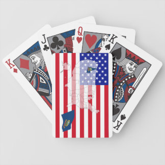 Idaho-USA State flag map playing cards Bicycle Playing Cards