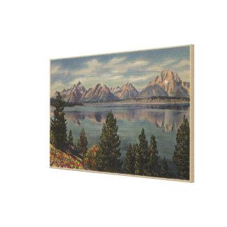 Idaho - View of the Teton Range & Jackson Lake Canvas Print