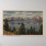 Idaho - vista de la gama de Teton y del lago jacks Impresiones
