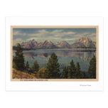 Idaho - vista de la gama de Teton y del lago Postal