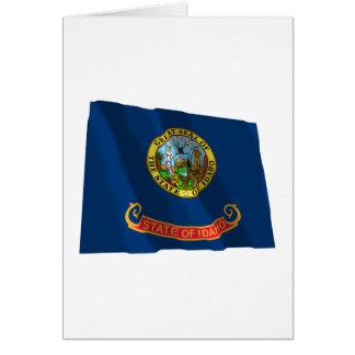 Idaho Waving Flag Card