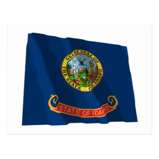 Idaho Waving Flag Postcard
