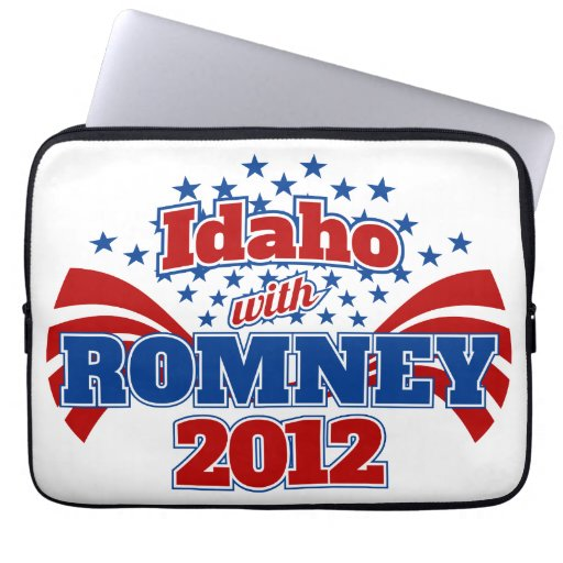 Idaho with Romney 2012 Computer Sleeves