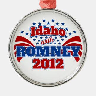 Idaho with Romney 2012 Metal Ornament