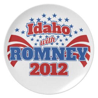 Idaho with Romney 2012 Dinner Plates