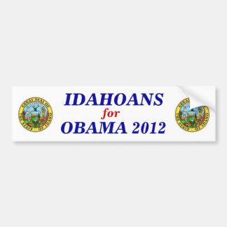 Idahoans for Obama 2012 sticker Car Bumper Sticker