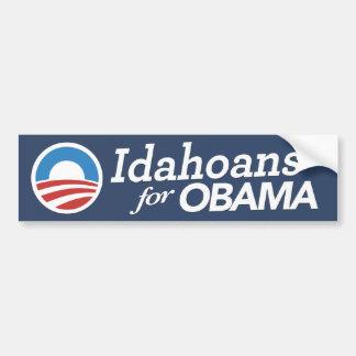Idahoans For Obama Bumper Sticker (CUSTOM COLOR) Car Bumper Sticker
