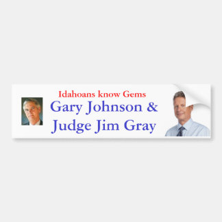 Idahoans know Gems Bumper Sticker